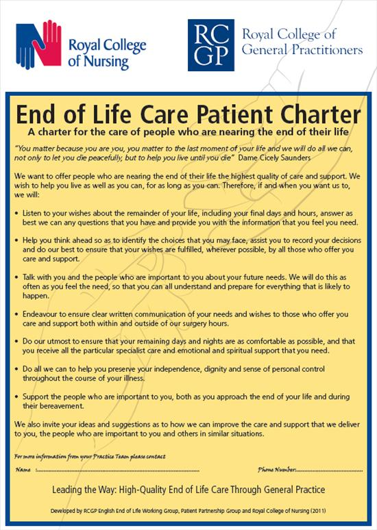 End of Life Charter
